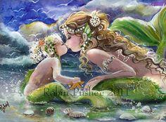 Mommy and baby Mermaids ( tattoo idea )