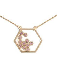 Honeycomb necklace//