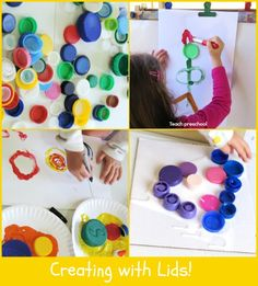 Creating with Lids by Teach Preschool