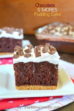 Chocolate S'mores Pudding Cake - this looks so good!