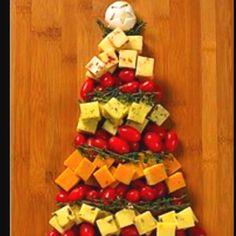 christmas parties, xmas trees, christmas party food, christmas appetizers, xmas food ideas, christma appet, appet tree, christmas trees, chees tree
