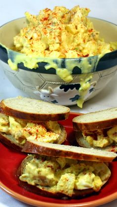 "Egg Salad - Goin' Old School  What's more old school than Egg Salad? This here is a basic recipe your Grandma would be proud of, with just a few interesting extras and a couple of tips.  From ""How to Boil Eggs"" to an unusual ingredient (Sour Cream), this is the BEST Egg Salad I have ever had."