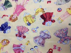 Fabric  Timeless Treasures Cut Out Dolls and by KoopsKountryKalico, $8.99