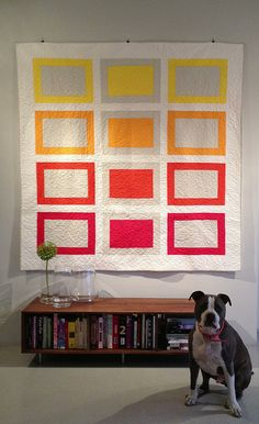 Quilt + Pitbull by danette.riddle on Flickr.