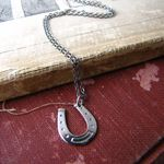 Silver Horseshoe Necklace  - Ornamental Things