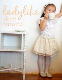 "~Ruffles And Stuff~: ""Ladylike"" Skirt Tutorial"