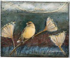 DJ Pettit Art journal page w/ bird Oz22