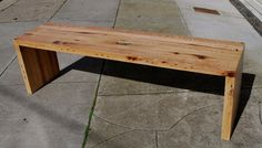 Sleek, upcycled pallette bench. I built these from de-nailed and planed oak pallets. It has a simple mortise and tenon joint and a polyurethane finish. I filled in the knot holes with epoxy on the seat. I'm thinking about a chair set to go with this.
