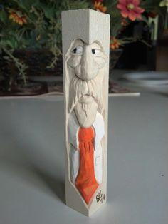 Tie Guy 5 carved by Steve Coughlan