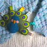 Felt Peacock Baby Rattle