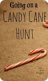 Holiday Game Candy Cane Hunt from Dirt and Boogers.  LOL at the blog name! :-)