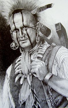 Jim Sawgrass  Pencil drawing of southeastern Creek, modern-day guy, very active in re-enactments and educational demonstrations.