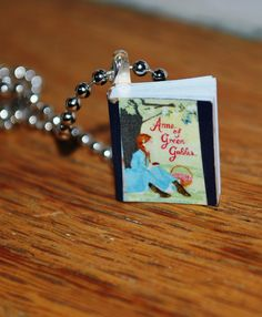 Ann of Green Gables Tiny Book Necklace