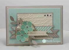 Stampin' Up! Petite Petals, Pretty prints embossing folder, FMS125
