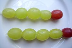 Caterpillars made from grapes. Adorable!