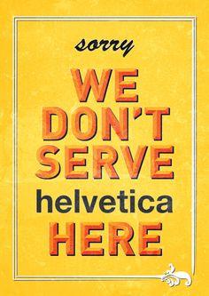 No Helvetica In Westend