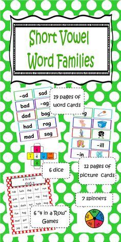 Short Vowel Word Families $