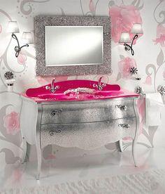 pink bathroom vanity model ideas