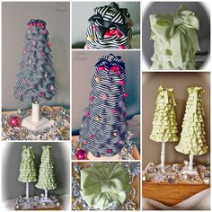 Ruffle Christmas Tree Tutorial. You won't believe what these are made from. Good bye expensive styrofoam!