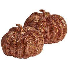 Glitter Pumpkins @ Pier 1 - mantel?