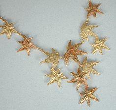 Michael Michaud maple leaf necklace