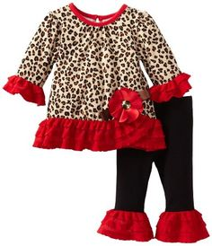 Amazon.com: Rare Editions Baby-Girls Newborn Cheetah Leg Set: Clothing 22.50 amazon.com