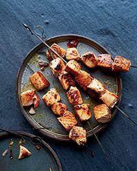 Maple-Dijon Salmon Skewers Recipe on Food & Wine