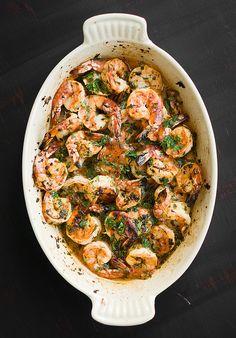 baked shrimp.
