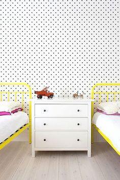Yellow, pink and polka dots