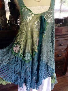 Luv Lucy Crochet Dress Lucy's Summer Meadow by TheVintageRaven, $210.00