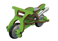 Buildex Speed Machine: motorcycle toy with real wheels kids put together themselves.