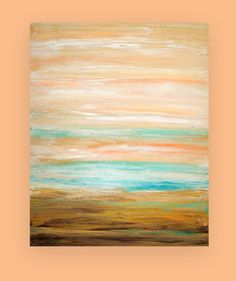 Shabby Chic Beach Acrylic Abstract Original by OraBirenbaumArt, $275.00