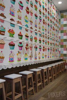 Cupcakes Wallpaper!   #kitchen #cupcake #wall