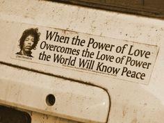 Power of Love ... Love of Power