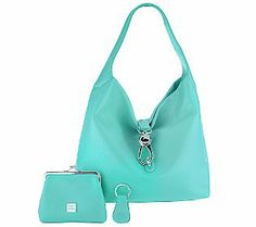 Dooney & Bourke Leather Hobo with Logo Lock and Accessories