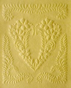 Whole-cloth quilt made from buttery yellow Dupioni silk - sigh. Gorgeous!