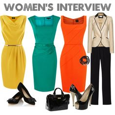 Dresses can be a nice interview option, especially in the summer. Avoid those that hit more than an inch or two above the knee, or that dip low in the front. Also, be weary of platforms.