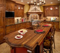 love the wood island countertop