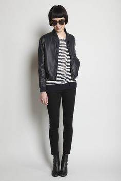 Lupo leather jacket by Jil Sander.