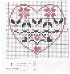 grille-coeur-de-frises-Noel.jpg; free heart Christmas cross stitch from France: has poinsettias; includes color key.
