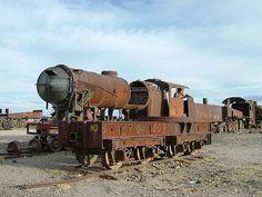Rusting locomotive, Bolivia
