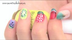 Diseños de uñas frutales. Fruit nail art.