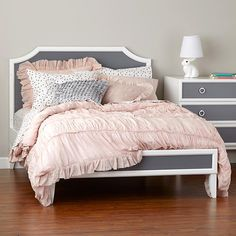 Our Verona Crib converts into a beautiful full size bed. ducduc for nod