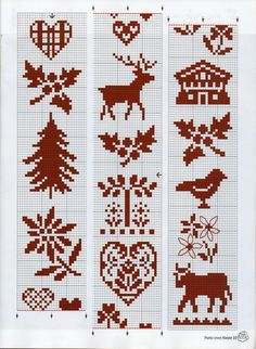 Cross-stitch Patterns... no color chart available, just use pattern chart as your color guide.. or choose your own colors...    Gallery.ru / Фото #1 - 9 - irinika