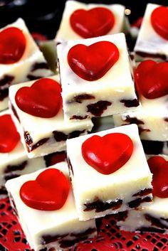 <3 White Chocolate Cherry Fudge