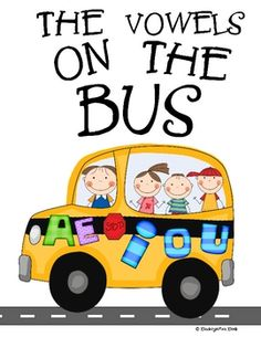 "Review or introduce important vowel sounds using this catchy song sang to the familiar tune ""The Wheels on The Bus!"" And as you do, practice ha..."