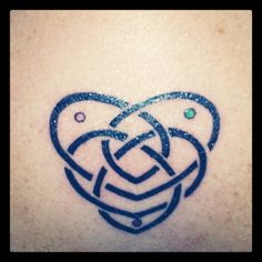 celtic mother's knot tattoo with kids birthstone colors.