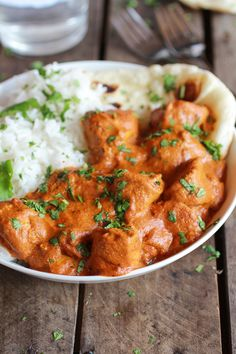 """Easy Healthier Crockpot Butter Chicken """"Husband loved it. Cooked on high 4 hours, needed salt at the end. Flavors fantastic the next day. Great alternative to oily, fatty restaurant alternatives."""""""