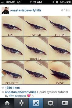 Perfect liquid eyeliner tutorial #makeup #eyes #eyeliner