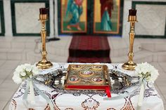 Greek Orthodox Wedding Altar